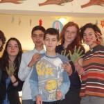 """""""Împreună suntem fericiţi"""" cl.a VII-a A. Activitate în parteneriat cu elevii Liceului """"Andrei Şaguna"""""""
